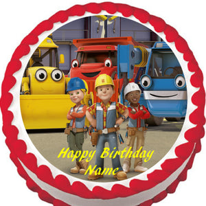 Bob the Builder Edible Cake Topper - Trish Gayle