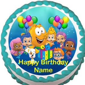 Bubble Guppies Birthday Edible Cake Topper - Trish Gayle