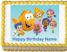 Load image into Gallery viewer, Bubble Guppies Edible Cake Topper - Trish Gayle