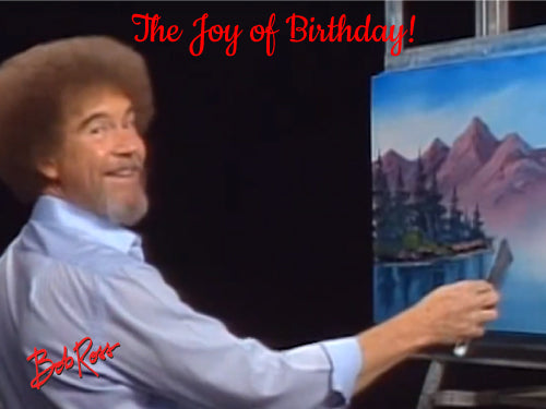 Bob Ross Joy of Birthday Edible Cake, Cupcake & Cookie Topper - Trish Gayle
