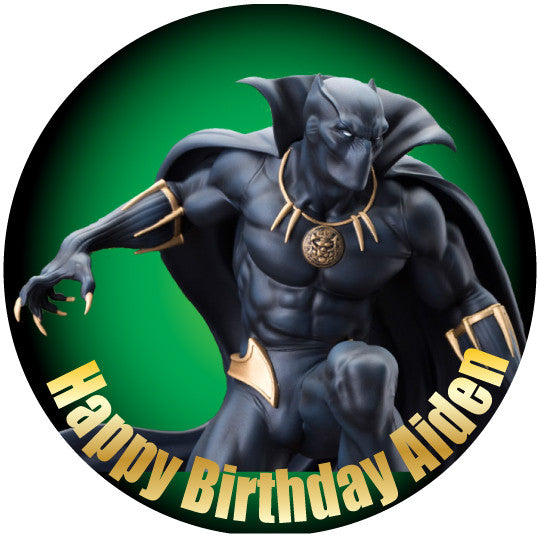 Black Panther Classic Edible Cake Cupcake Amp Cookie Topper