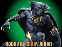 Load image into Gallery viewer, Black Panther Classic Edible Cake, Cupcake & Cookie Topper - Trish Gayle