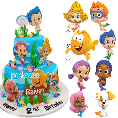 Bubble Guppies Edible Fondant Characters - Trish Gayle