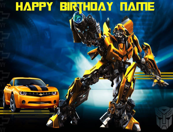 Transformers Bumble Bee Edible Cake Topper - Trish Gayle