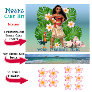 Moana Complete Edible Cake Decoration Set - Trish Gayle