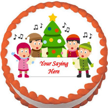Load image into Gallery viewer, Christmas Carollers Edible Cake, Cupcake & Cookie Topper - Trish Gayle