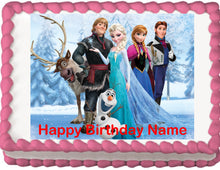 Load image into Gallery viewer, Frozen Cast Edible Cake, Cupcake & Cookie Topper - Trish Gayle