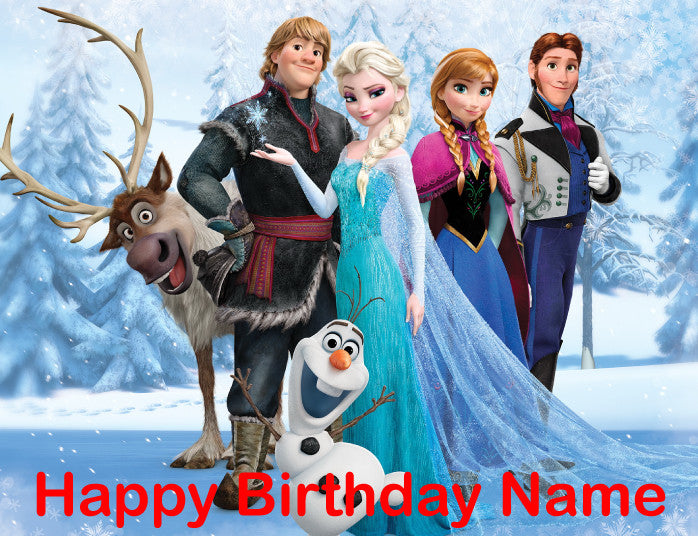 Frozen Cast Edible Cake, Cupcake & Cookie Topper - Trish Gayle