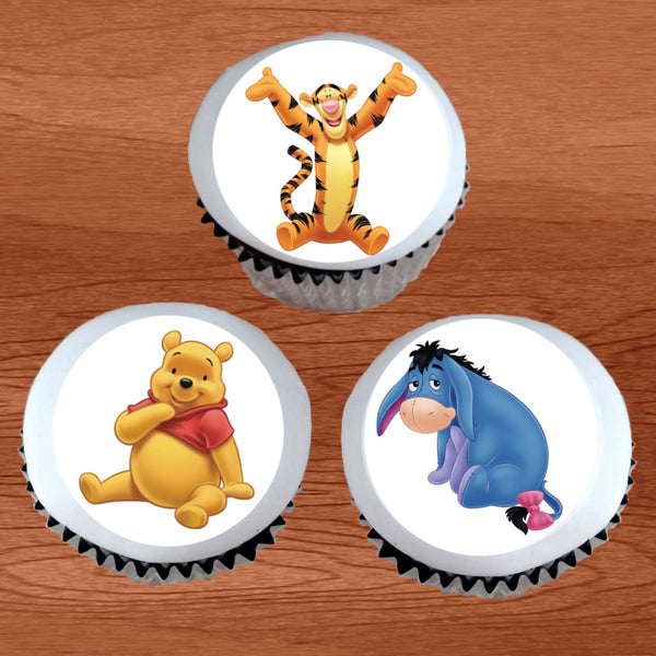 Winnie the Pooh Characters Cupcake / Cookie Toppers - Trish Gayle