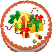 Load image into Gallery viewer, Christmas Gifts Edible Cake, Cupcake & Cookie Topper - Trish Gayle