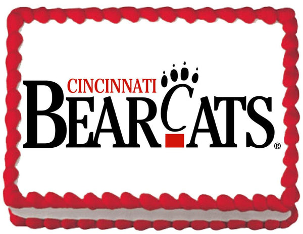 Cincinnati Bearcats Edible Cake, Cupcake & Cookie Topper - Trish Gayle