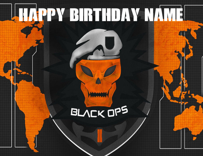 Call of Duty Black Ops 2 Edible Cake Topper - Trish Gayle