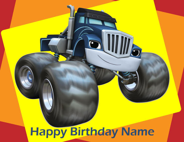 Blaze and the Monster Trucks Crusher Edible Cake Topper - Trish Gayle