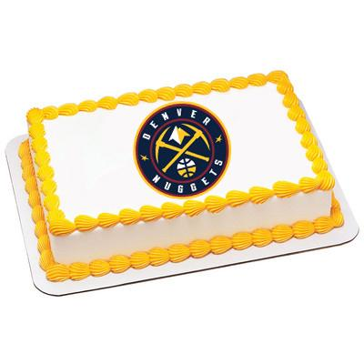 Denver Nuggets Logo Edible Cake, Cupcake & Cookie Topper - Trish Gayle