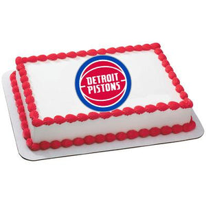 Detroit Pistons Logo Edible Cake, Cupcake & Cookie Topper - Trish Gayle