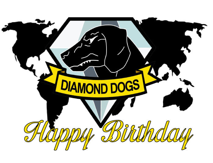 Metal Gear Solid Diamond Dogs Birthday Edible Cake, Cupcake & Cookie Topper - Trish Gayle