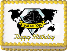 Load image into Gallery viewer, Metal Gear Solid Diamond Dogs Birthday Edible Cake, Cupcake & Cookie Topper - Trish Gayle