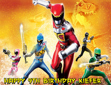 Load image into Gallery viewer, Power Rangers Edible Cake Topper - Trish Gayle