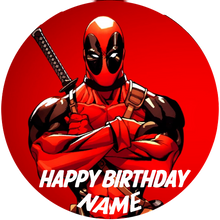 Load image into Gallery viewer, Deadpool Alias Edible Cake, Cupcake & Cookie Topper - Trish Gayle