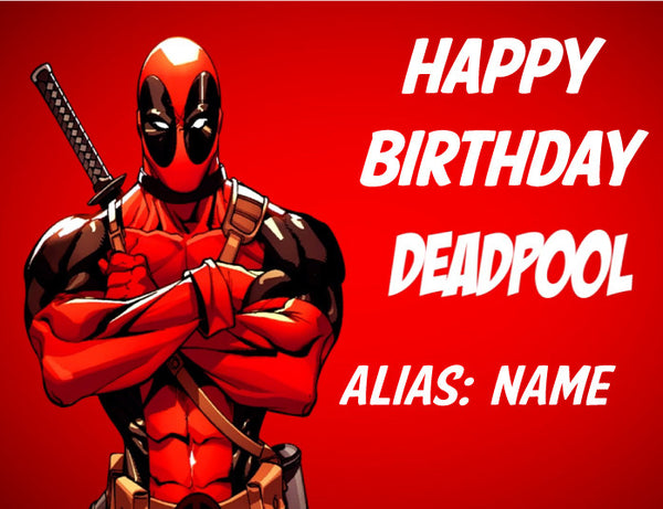 Deadpool Alias Edible Cake, Cupcake & Cookie Topper - Trish Gayle
