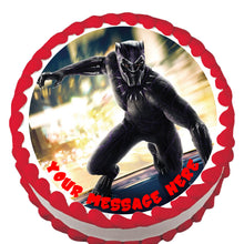 Load image into Gallery viewer, Black Panther Edible Cake, Cupcake & Cookie Topper - Trish Gayle