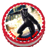Black Panther Edible Cake, Cupcake & Cookie Topper - Trish Gayle