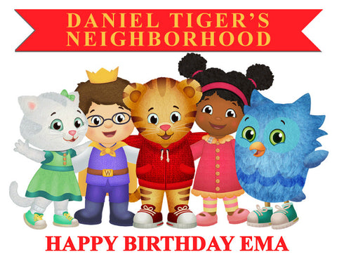 Daniel Tiger Edible Cake Topper - Trish Gayle