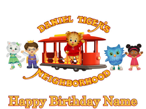 Daniel Tiger Trolley Edible Cake Topper - Trish Gayle