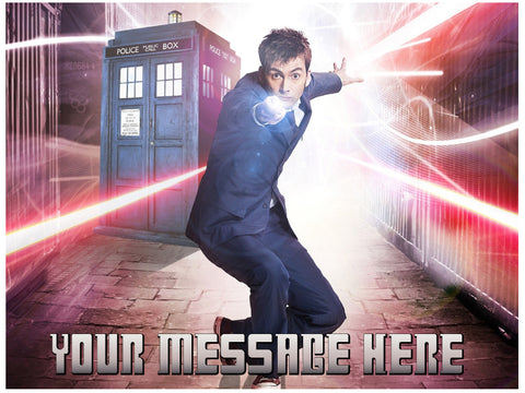 Doctor Who 10th Doctor Edible Cake / Cupcake Topper - Trish Gayle