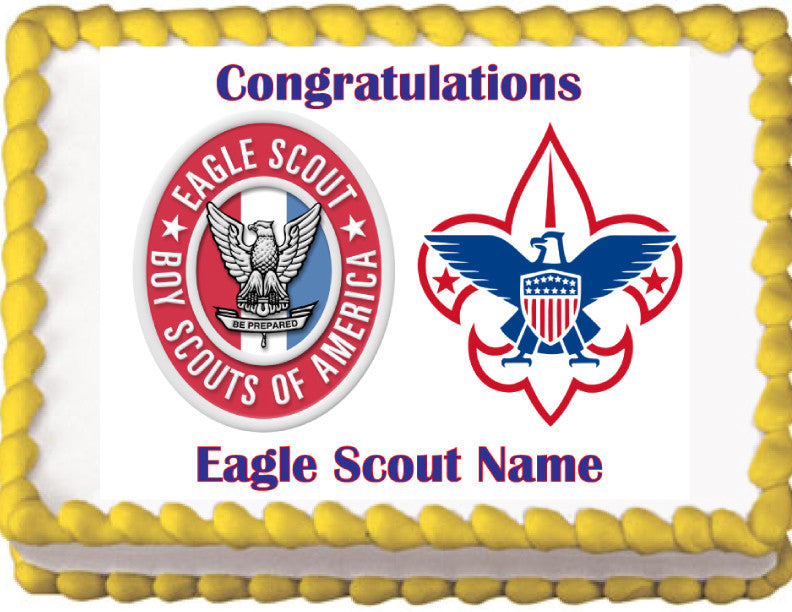 Eagle Scout Boy Scouts Edible Cake Topper Trish Gayle