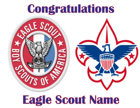 Eagle Scout Boy Scouts Edible Cake Topper - Trish Gayle