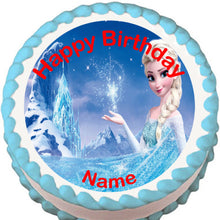Load image into Gallery viewer, Frozen Elsa Edible Cake, Cupcake & Cookie Topper - Trish Gayle