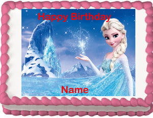 Frozen Elsa Edible Cake, Cupcake & Cookie Topper - Trish Gayle