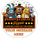 FNAF Five Nights at Freddy's Pizzeria Toy Version Edible Cake Topper - Trish Gayle