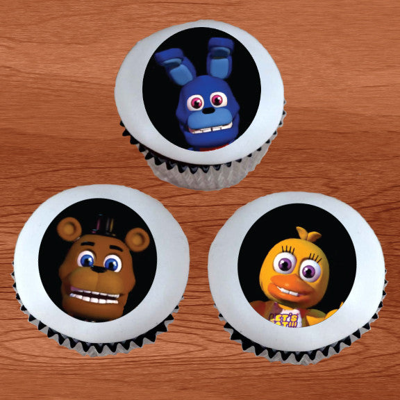 FNAF Five Nights at Freddy's World Edible Cupcake / Cookie Toppers - Trish Gayle