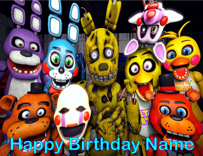 Fnaf Five Nights At Freddy S Edible Cake Topper Trish Gayle