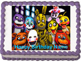 FNAF Five Nights at Freddy's Edible Cake Topper - Trish Gayle