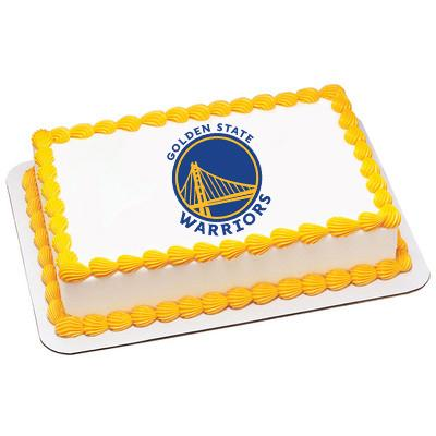 Golden State Warriors Logo Edible Cake, Cupcake & Cookie Topper - Trish Gayle