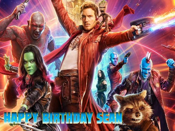 Guardians of the Galaxy Vol 2 Edible Cake, Cupcake & Cookie Topper - Trish Gayle