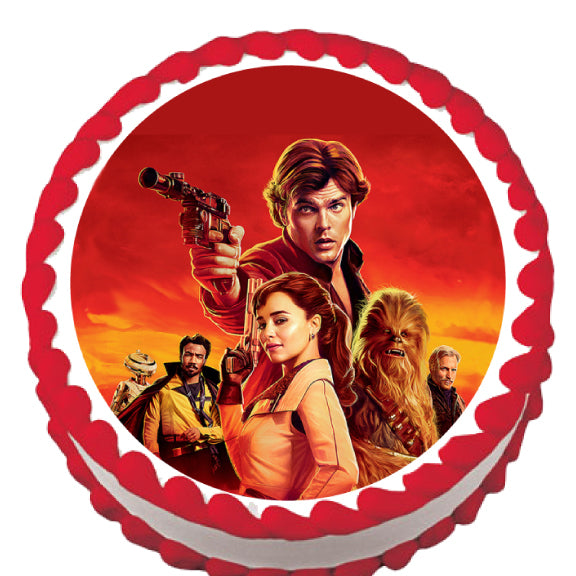 Han Solo Star Wars Edible Cake Topper - Trish Gayle
