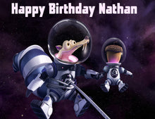 Load image into Gallery viewer, Ice Age Scrat in Space Edible Cake, Cupcake & Cookie Topper - Trish Gayle