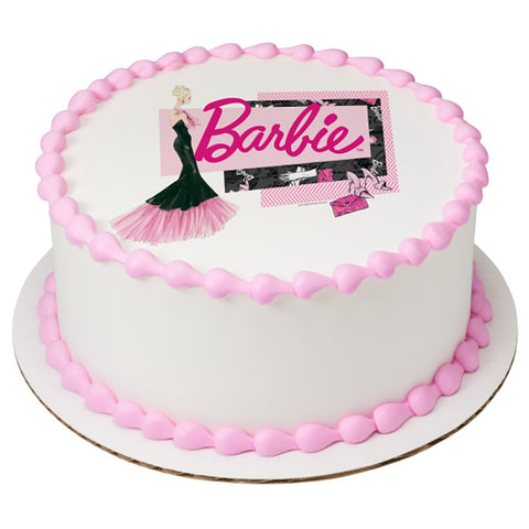 Barbie Glam Edible Cake, Cupcake & Cookie Topper - Trish Gayle
