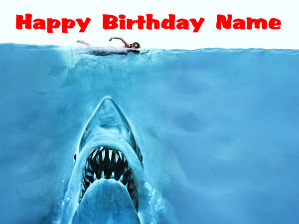 Jaws Edible Cake, Cupcake & Cookie Topper - Trish Gayle