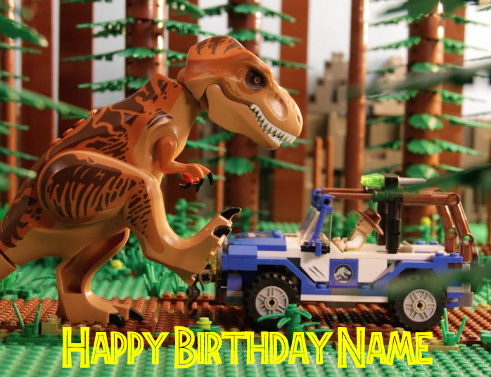 Jurassic Park Lego Edible Cake Topper - Trish Gayle
