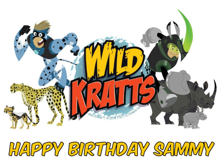 Wild Kratts Edible Cake, Cupcake & Cookie Topper
