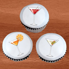 Load image into Gallery viewer, Martini Glass Cupcake / Cookie Toppers - Trish Gayle