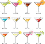 Martini Glass Cupcake / Cookie Toppers - Trish Gayle