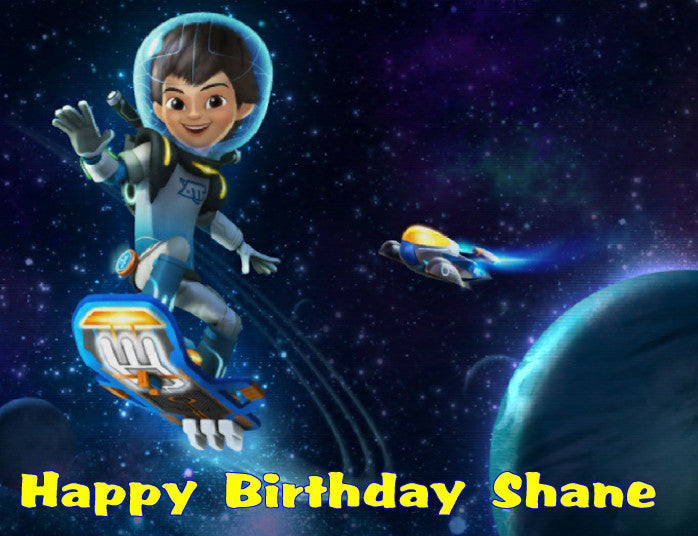 Miles from Tomorrowland Edible Cake Topper - Trish Gayle