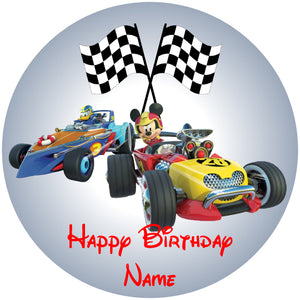 Roadster Racers Mickey & Donald Edible Cake, Cupcake & Cookie Topper - Trish Gayle