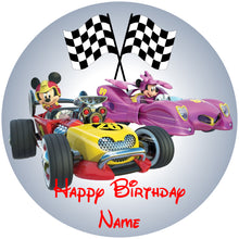 Load image into Gallery viewer, Roadster Racers Mickey & Minnie Edible Cake, Cupcake & Cookie Topper - Trish Gayle